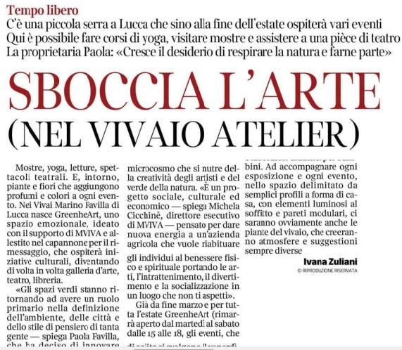 Corriere Fiorentino – aprile 2018