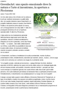 Greenhearth sulla Gazzetta di Lucca a MArzo 2018