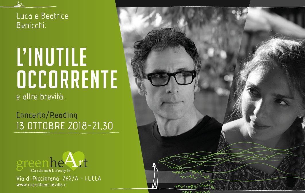 """""""L'inutile occorrente e altre brevità"""" con Luca e Beatrice Benicchi"""