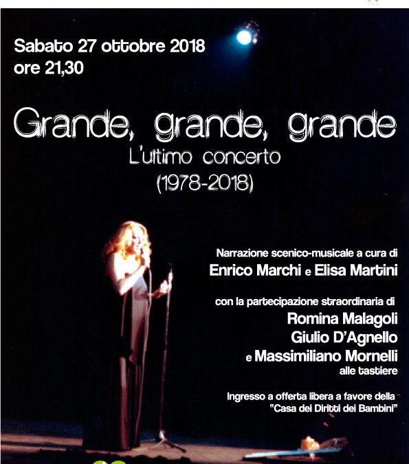 """""""Grande grande grande. L'ultimo concerto (1978-2018)"""""""